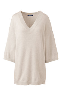 Women's Eco-friendly Drop Hem V-neck Jumper