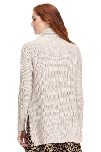 Lands' End - Eco-friendly Cable Shaker Roll Neck - 2