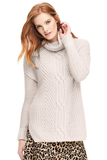 Women's Eco-friendly Cable Shaker Roll Neck