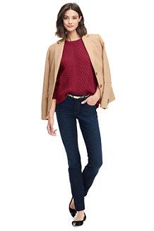 Leichter Strukturstrick-Pullover für Damen