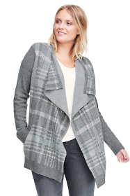 Women's Plus Size Wool Blend Waterfall Sweater Coat
