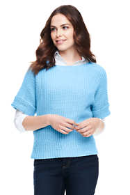 Women's Short Sleeve Dolman Shaker Sweater