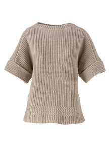 Women's Shaker Short Sleeve Boatneck Jumper