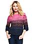 Zopfmuster-Pullover mit Farbverlauf für Damen in Normalgröße