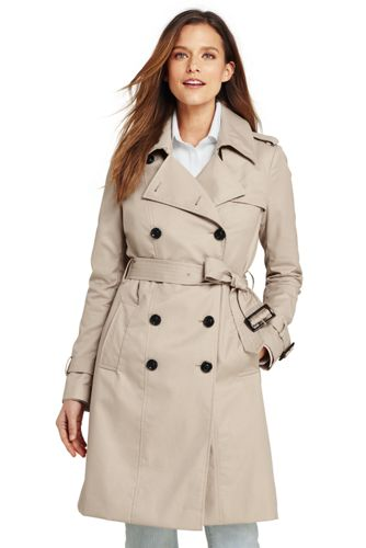 women s cotton trench coat lands end