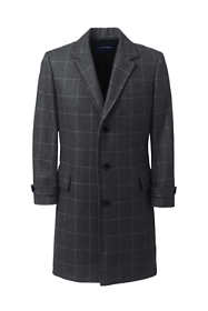 Men's Patterned Wool Top Coat