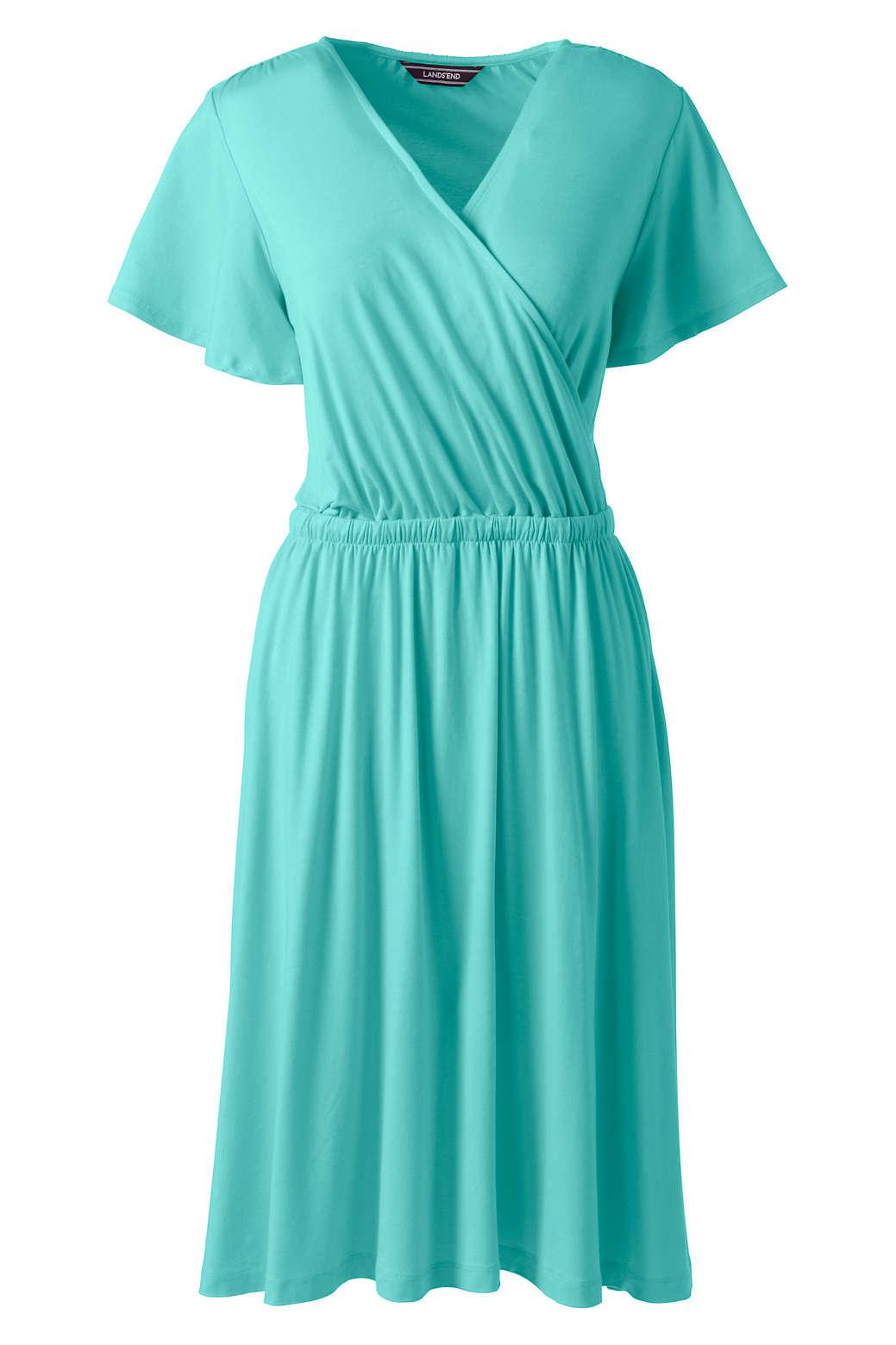0553957d1e5 Women s Flutter Sleeve Surplice Dress from Lands  End