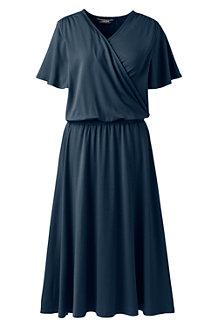 Wickelkleid mit Rüschenärmeln für Damen