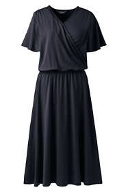Women's Flutter Sleeve Surplice Dress