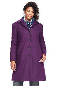 Women's Plus Size Petite Wool A-line Coat