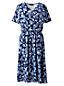 La Robe Cache-Coeur en Jersey Stretch à Motifs, Femme Stature Standard