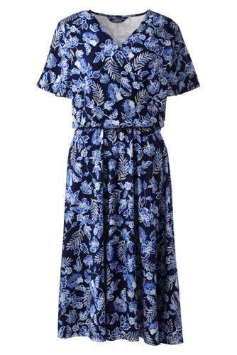 Women's Pattern Flutter Sleeve Dress
