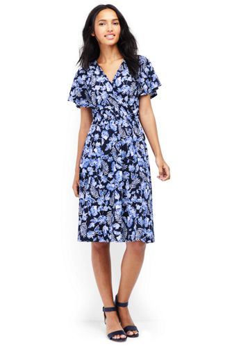 Women's Pattern Flutter Sleeve Dress