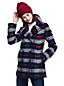 Women's Plaid Wool Blend Peacoat