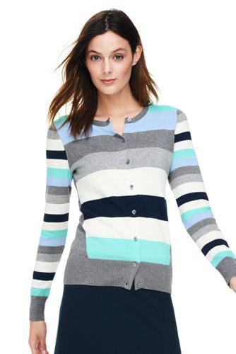 Women's Fine Gauge Supima Cardigan with seam detail