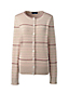 Women's Fine Gauge Supima Textured Striped Cardigan