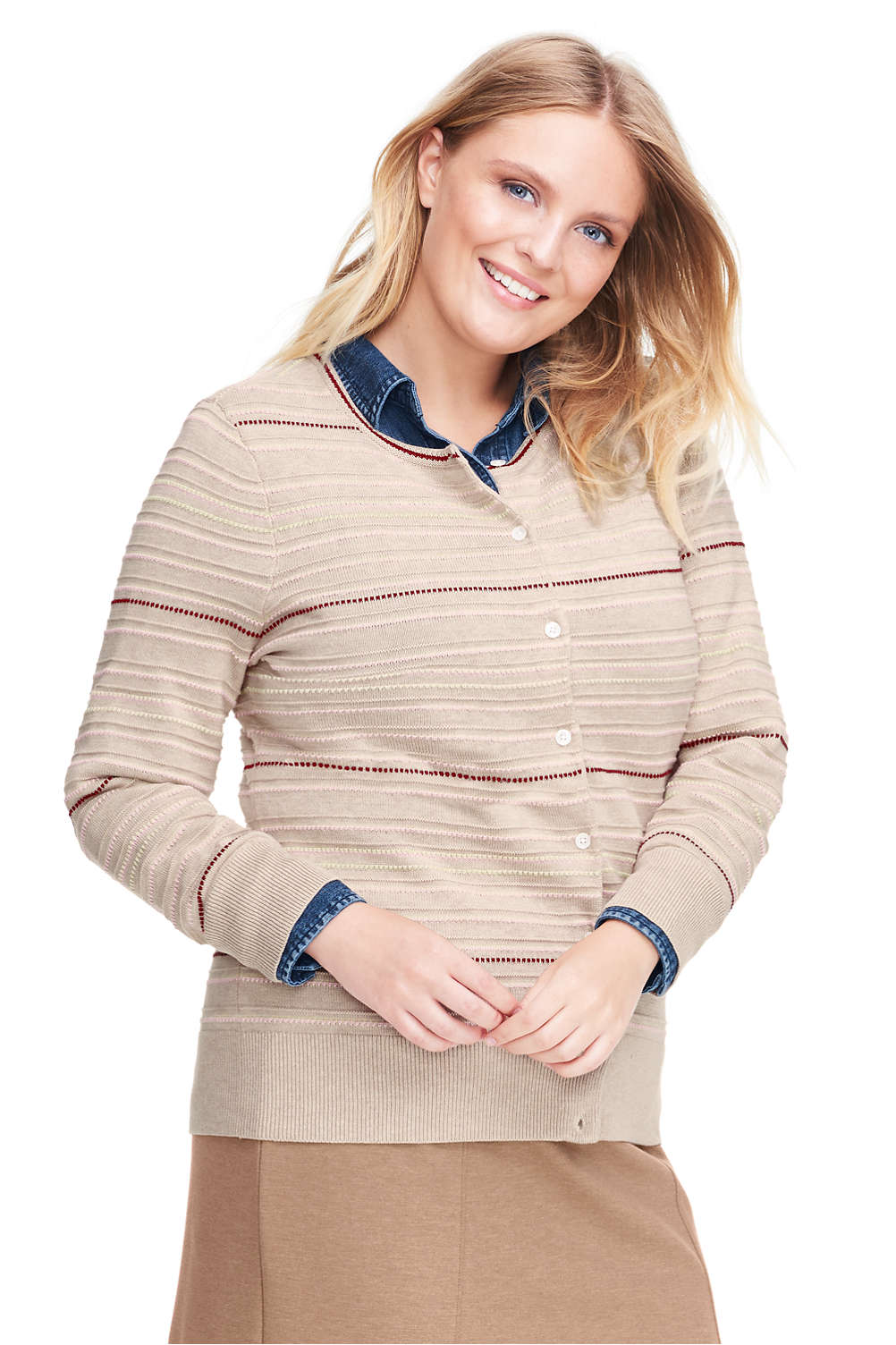 5616bfce8e1a Women's Supima Cotton Cardigan Sweater from Lands' End