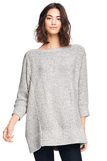 Le Pull Long Ample Donegal Manches 3/4, Femme