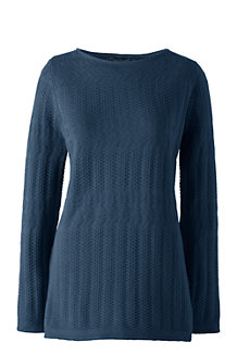 Women's Lofty Boatneck Tunic Jumper