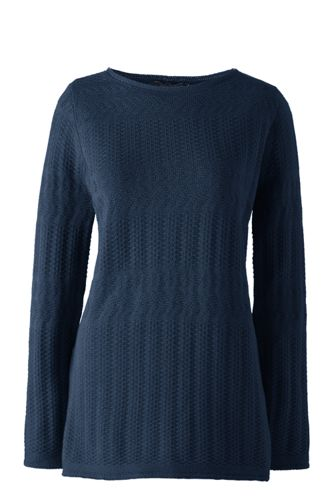 Women's Petite Lofty Boatneck Tunic Jumper