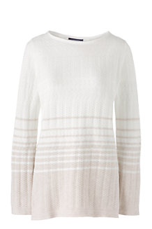 Women's Lofty Boatneck Striped Tunic Jumper