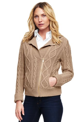 Women's Lofty Blend Moto Cable Cardigan