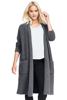 Women's Soft Leisure Merino Blend Boucle Cardigan
