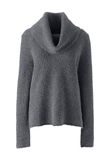 Women's Soft Leisure Merino Blend Boucle Cowlneck