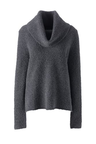Women's Merino Blend Boucle Cowlneck Jumper