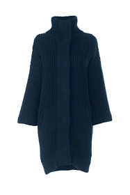 Women's 3/4 Sleeve Funnel Neck Sweater Coat