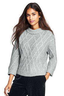 Women's Textured Wool Blend Jumper