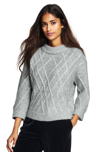 Women's Textured Wool Blend Jumper