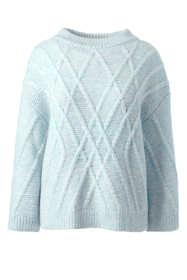 Women's Plus Size Alpaca Blend 3/4 Sleeve Sweater