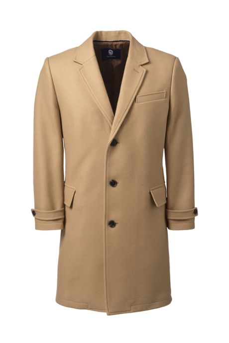 Men's Tall Wool Top Coat
