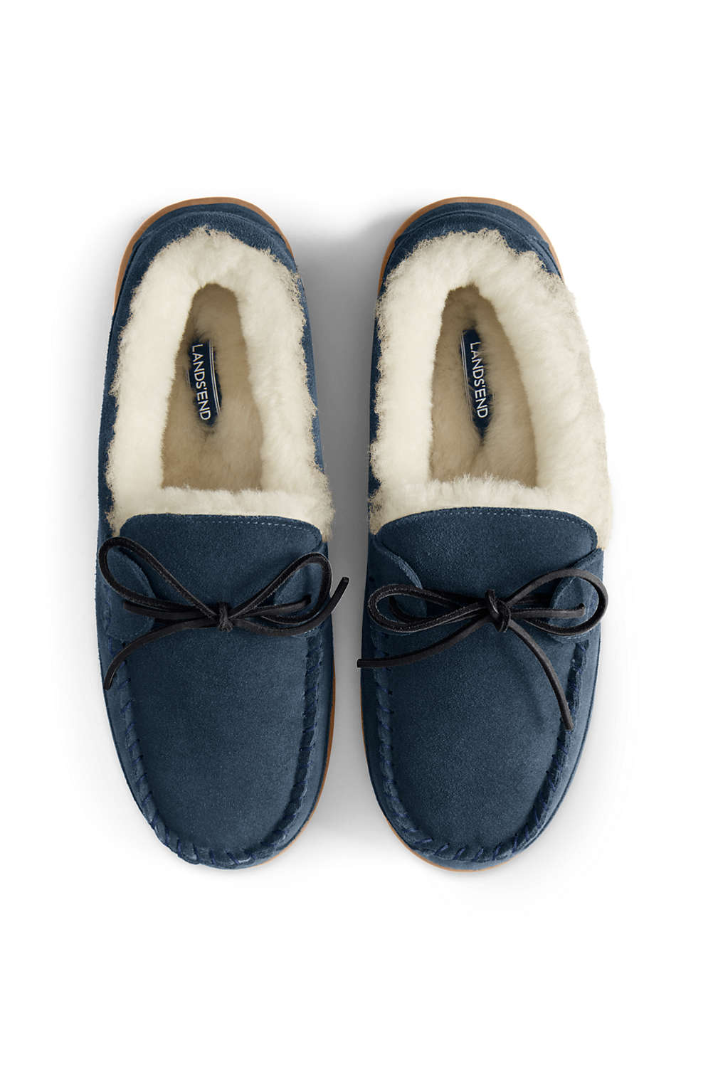 79e0c9e5cf13 Men s Shearling Moccasin Slippers from Lands  End