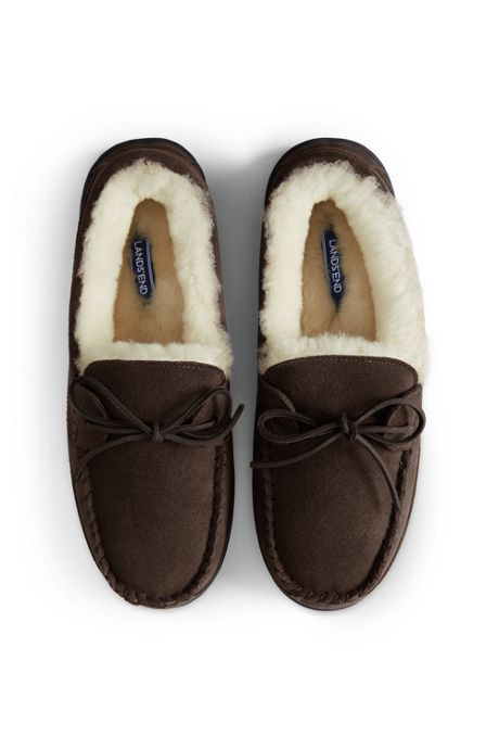Men's Shearling Moccasin Slippers