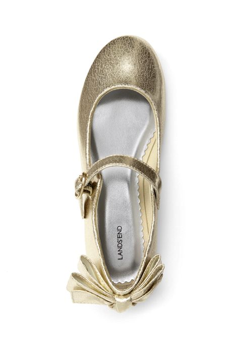Girls Mary Jane Bow Ballet Flats