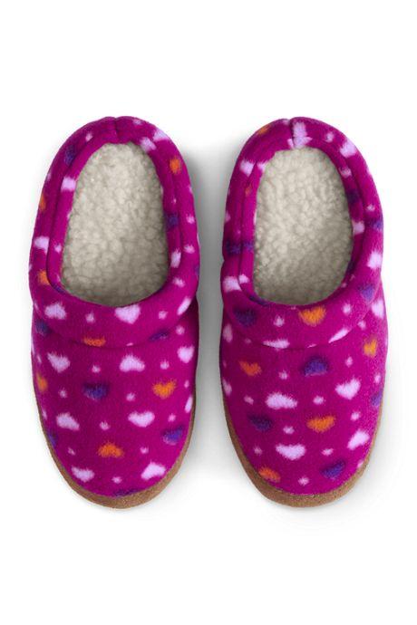 Kids Fleece Scuff Slippers
