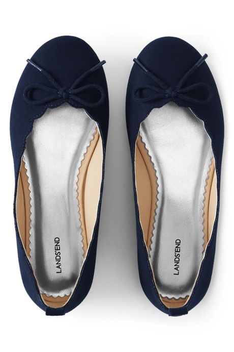 Girls Scallop Ballet Flats