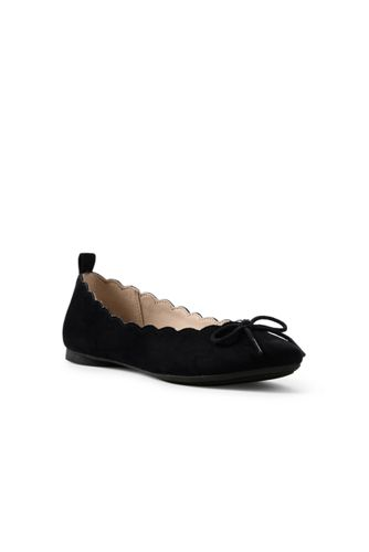 Girls' Scalloped Ballet Pumps