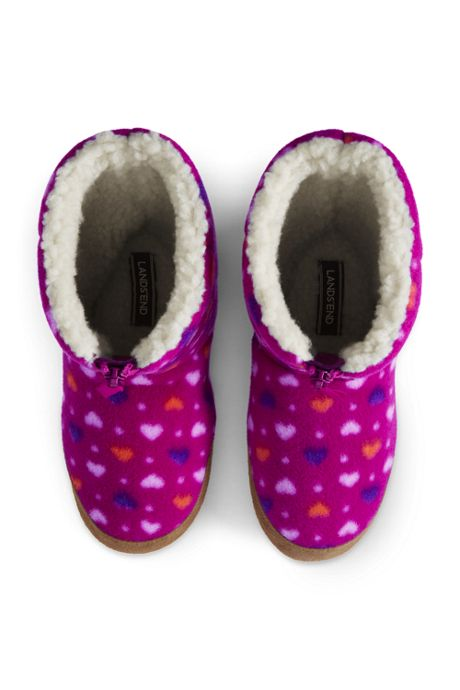 Kids Lined Fleece Bootie Slippers