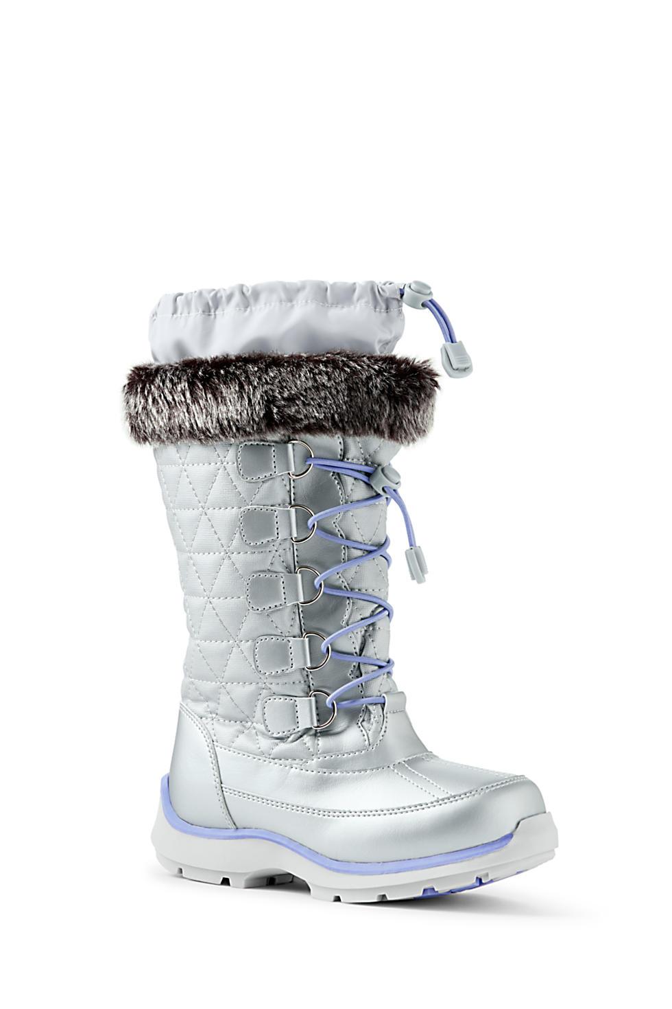 Girls Snowflake Winter Snow Boots (sizes 5, 6 & 7)