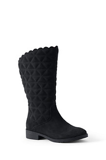 Girls' Quilted Suede Boots