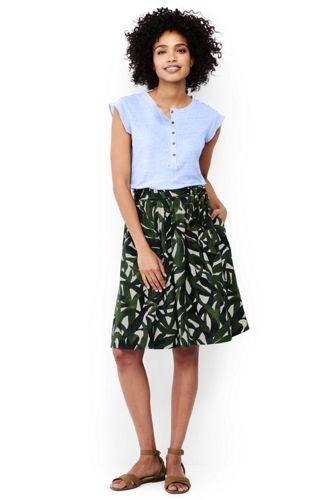 Women's Pull-on Lyocell Print A-Line Skirt
