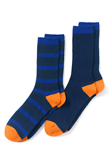 Nahtfreie farbige Socken für Herren, 2er-Pack