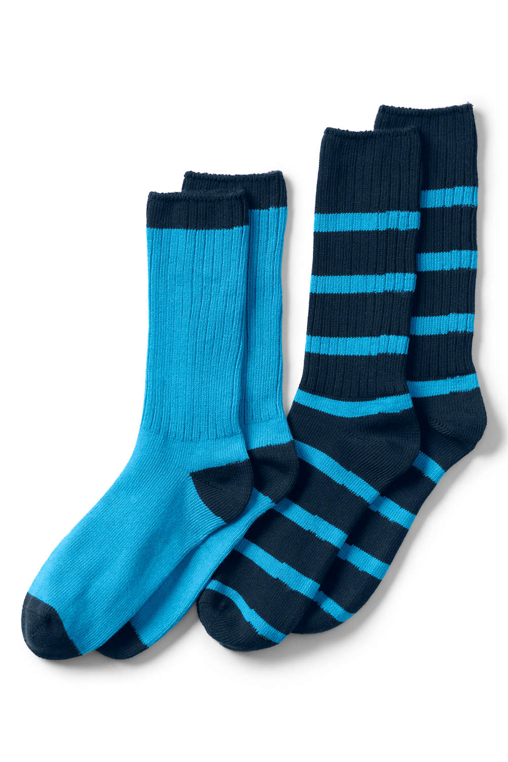 08abea8a97 Men's Seamless Toe Cotton Crew Socks (2-pack) from Lands' End