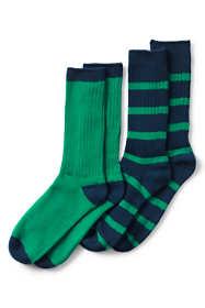 Men's Seamless Toe Cotton Crew Socks (2-pack)