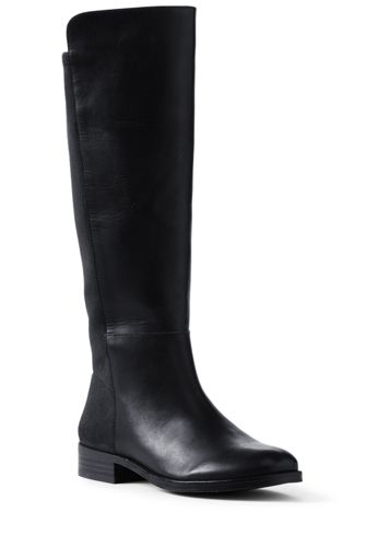 7f386386a176e Women's Leather/Stretch Boots | Lands' End