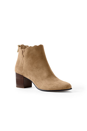 44c6b6a03e5 Women's Scalloped Ankle Boots
