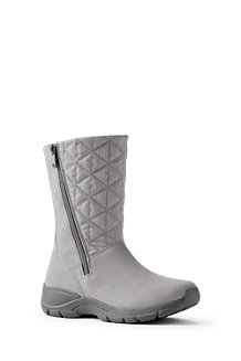 Women's Quilted Side-zip Winter Boots